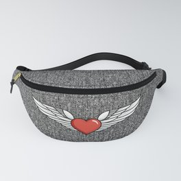 Winged Heart Fanny Pack