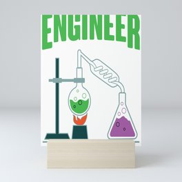 Chemical Engineer At Work Science Profession Gift Mini Art Print