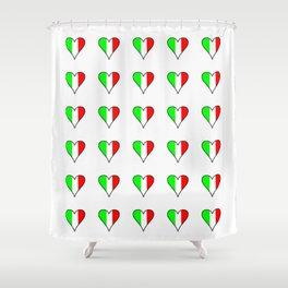 flag of Italia heart- Italy,Italia,Italian,Latine,Roma,venezia,venice,mediterreanean,Genoa,firenze Shower Curtain