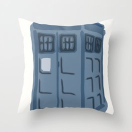 Abstract TARDIS Throw Pillow