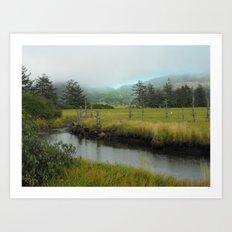 Mystery In Mist Art Print