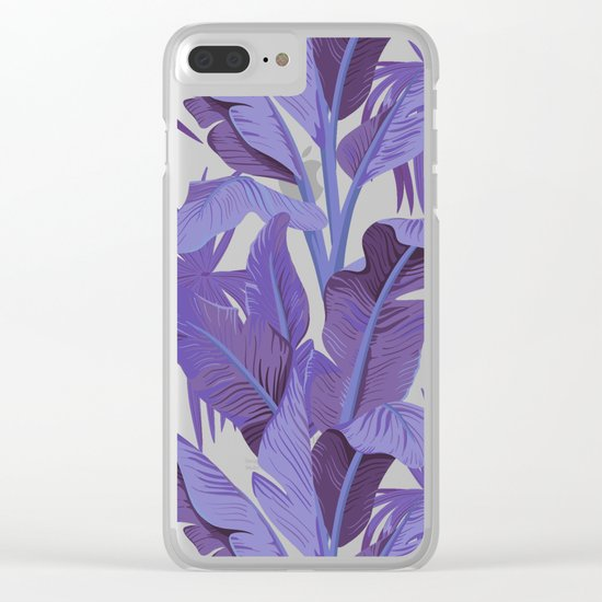 Tropical '17 - Starling [Banana Leaves] Clear iPhone Case