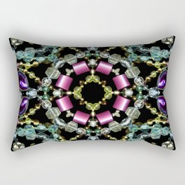 Bling Jewel Kaleidoscope Scanography Rectangular Pillow