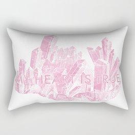 My Heart is True Rectangular Pillow