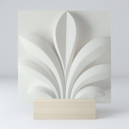 White sculpture Mini Art Print