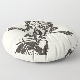 TRIP WITH ME Floor Pillow