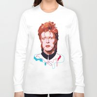 bowie Long Sleeve T-shirts featuring Bowie by Anna McKay