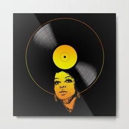 Afrovinyl (Soul) Metal Print