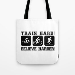 Triathlon Train Hard Gift Tote Bag