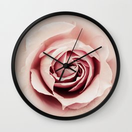 Milky Pink Rose Wall Clock