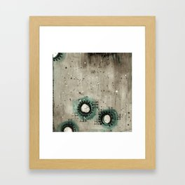 Sepia Circles Low Framed Art Print