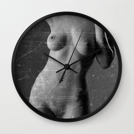 Distressed Nude Wall Clock