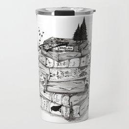 Story Tellers- Book Stack Travel Mug