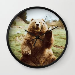 Hi Bear Wall Clock