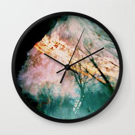into the forest (pinhole camera) Wall Clock