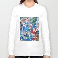 sam smith Long Sleeve T-shirts featuring Blue Fairy, Sam Fan Art by Annette Jimerson