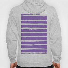 Irregular Hand Painted Stripes Purple Hoody