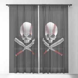 Phantom Ballplayer Sheer Curtain