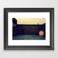 Lonely with Bricks Framed Art Print