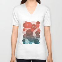blood V-neck T-shirts featuring Blood Cells by Chase Kunz