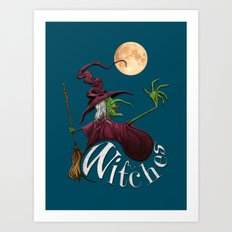 Witches Art Print
