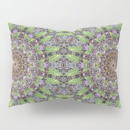 Natural elements in forest mandala Pillow Sham