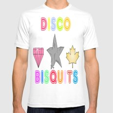 Disco Biscuits 2 Mens Fitted Tee MEDIUM White