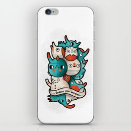 Embrace your weirdness iPhone Skin