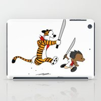 calvin and hobbes iPad Cases featuring Bonifacio and Hobbes by Cesar Cueva