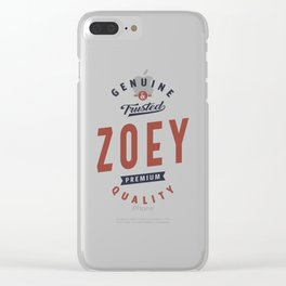Genuine and Trusted Zoey Clear iPhone Case