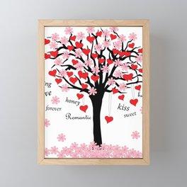 blossom tree of love Framed Mini Art Print