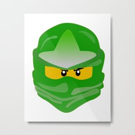 Ninjago face Lloyd  Metal Print