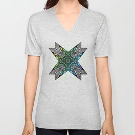 [octagon tunnel] Unisex V-Neck