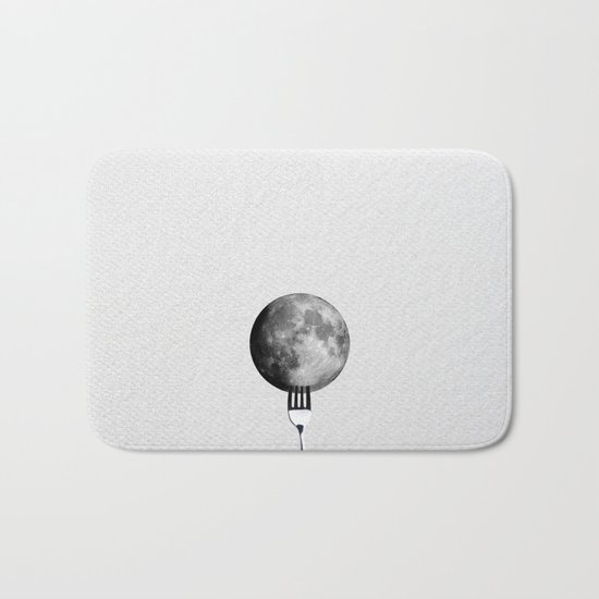 Moon and fork Bath Mat