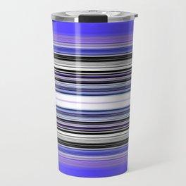 Bright bold Blue And Purple Stripe Travel Mug