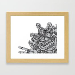 Happy Devil Framed Art Print