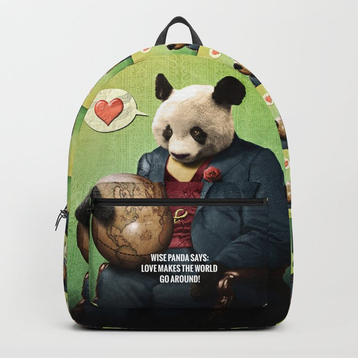 Wise Panda: Love Makes the World Go Around! Backpack