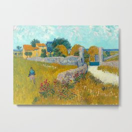 Farmhouse in Provence by Vincent van Gogh, 1888 Metal Print