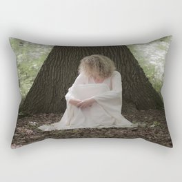 Waiting in the woods Rectangular Pillow
