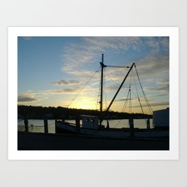 The Florence at Sunset, Mystic Seaport Art Print