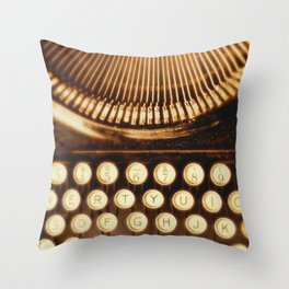 Typewriter photo.  Ink Slinger No.2 Throw Pillow