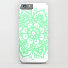 Pastel Mint Green Mandala iPhone Case