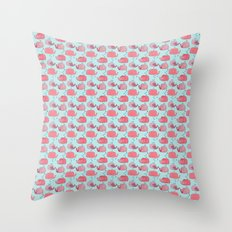 thousands of little pink wales Throw Pillow