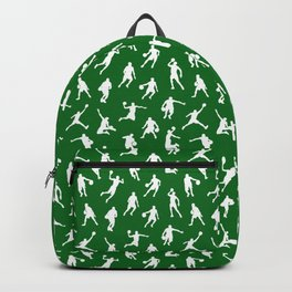Basketball Players // Green Backpack
