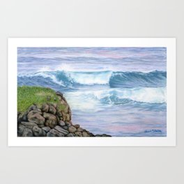 Cliff By The Sea Art Print