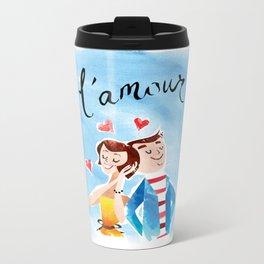 L'amour Metal Travel Mug