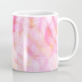 Pink Flamingo Feather Pattern Coffee Mug