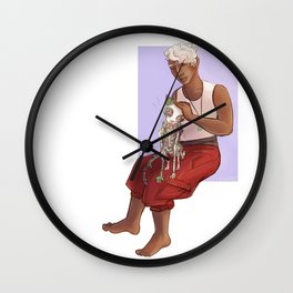 Witch boy Wall Clock