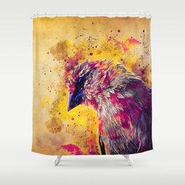 spotted madagascar fody wslsh Shower Curtain