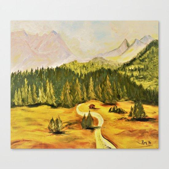 austrian mountains Canvas Print